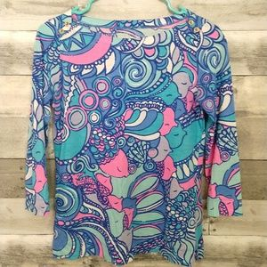 Lilly Pulitzer 3/4 Sleeve Top
